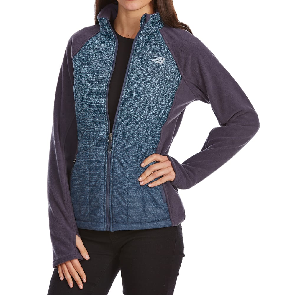 NEW BALANCE Women's Fleece Jacket with Ombre Quilted Overlay S
