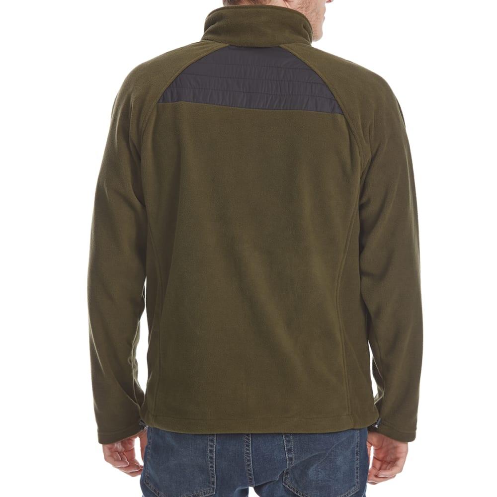 NEW BALANCE Men's Quilted Chest Full-Zip Fleece Jacket - OLIVE-GR123