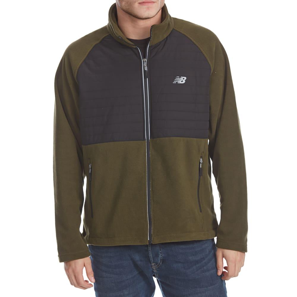 NEW BALANCE Men's Quilted Chest Full-Zip Fleece Jacket M