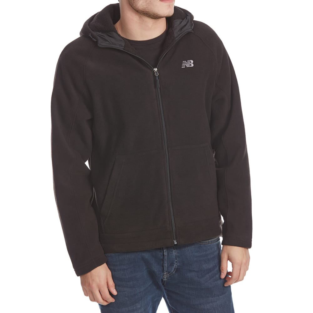 NEW BALANCE Men's Polar Fleece Full-Zip Hoodie - BLACK-BK001