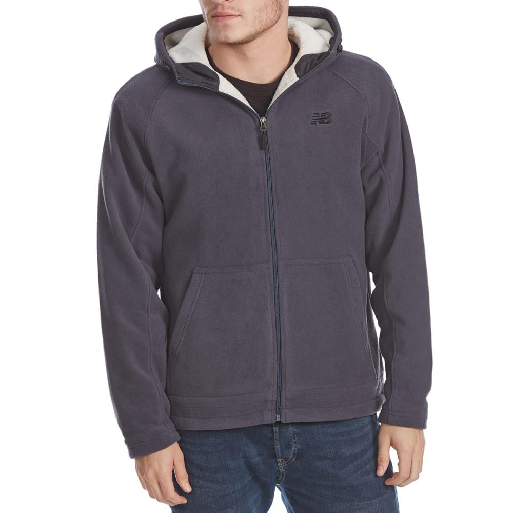 NEW BALANCE Men's Polar Fleece Full-Zip Hoodie - THUNDER GREY-GY352