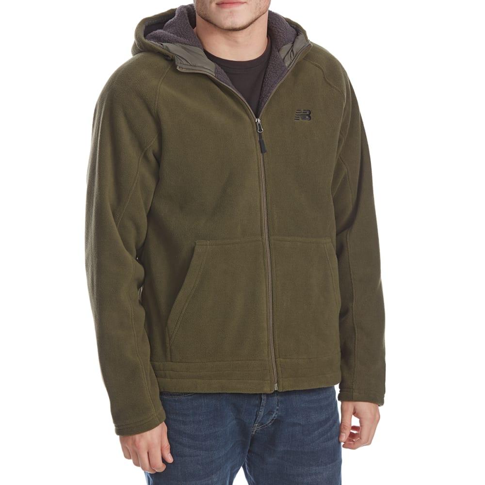 NEW BALANCE Men's Polar Fleece Full-Zip Hoodie - OLIVE-GR046