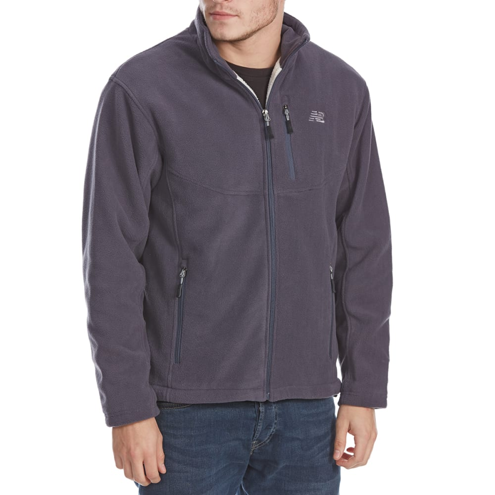 NEW BALANCE Men's Self-Collar Polar Fleece Jacket - THUNDER GREY-GY352