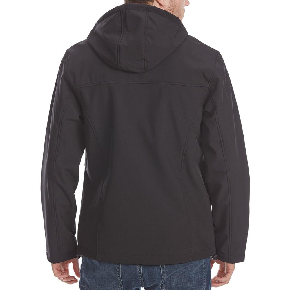 NEW BALANCE Men's Printed Soft Shell Hoodie - BLACK-BK183