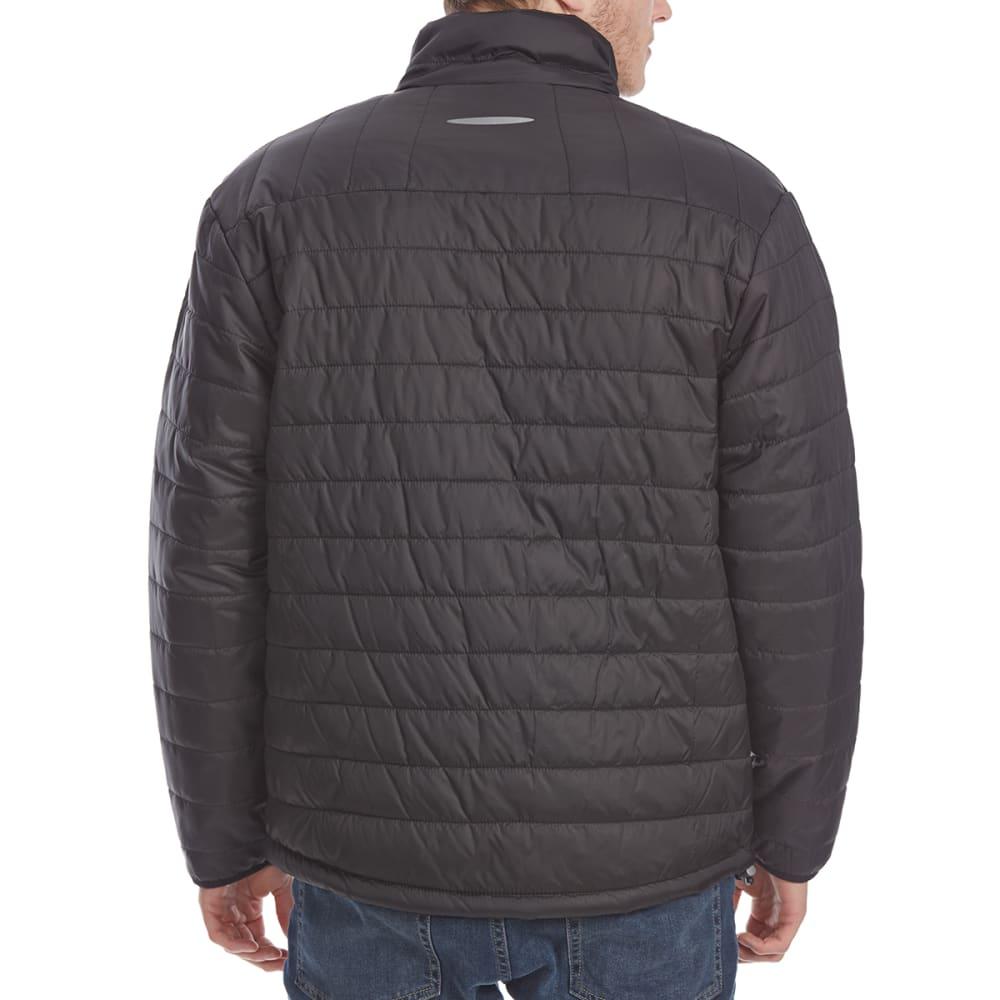 NEW BALANCE Men's Color-Block Puffer Jacket - BLACK-BK183