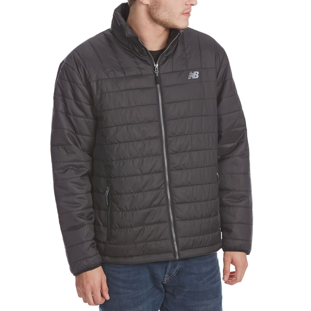 NEW BALANCE Men's Color-Block Puffer Jacket - BLACK-BK183
