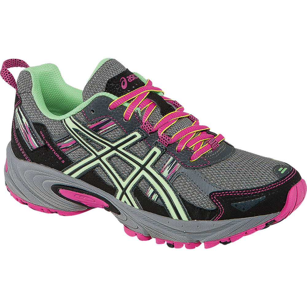 ASICS Women's GEL-Venture 5 Running Shoes, Titanium/Pistachio/Pink - GREY