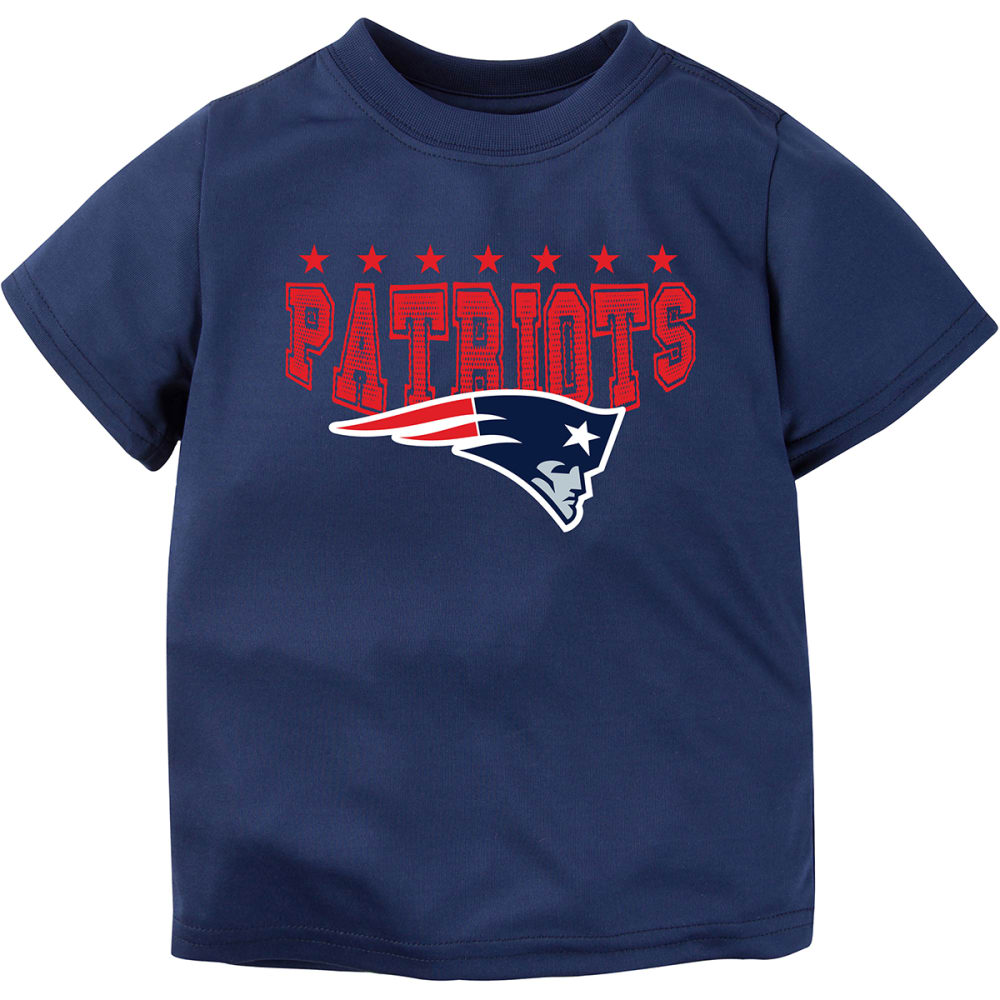 NEW ENGLAND PATRIOTS Toddler Boys' Helmet Logo Short-Sleeve Tee - NAVY