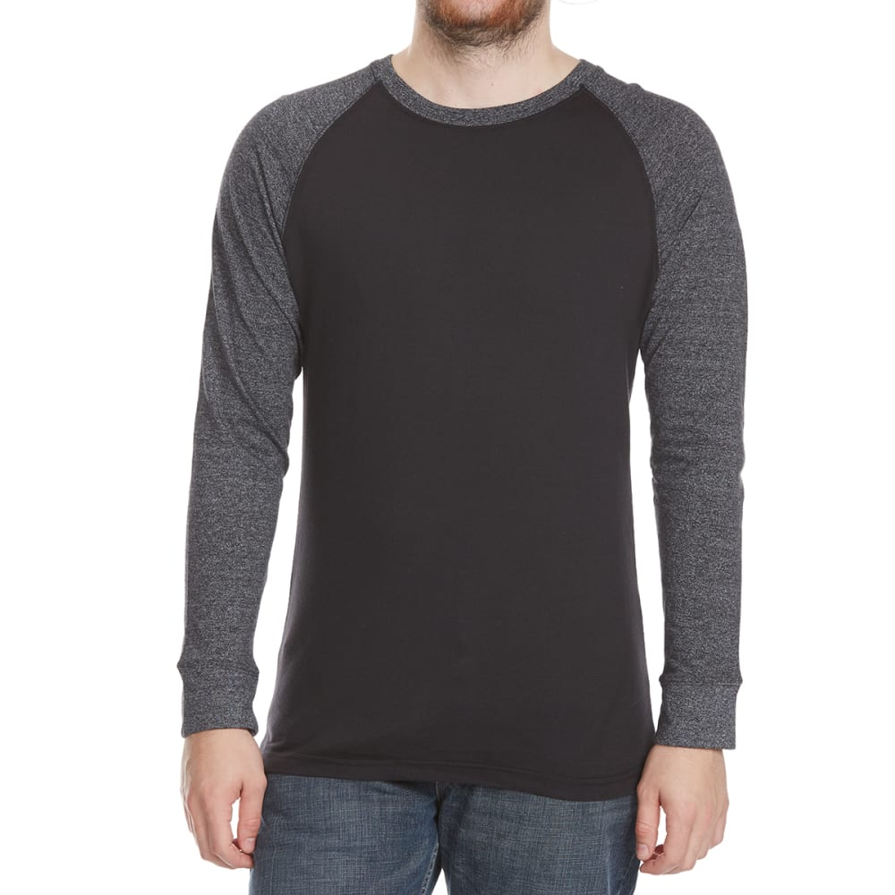 Alpha Beta Guys Raglan Crew Long-Sleeve Shirt - Black, S