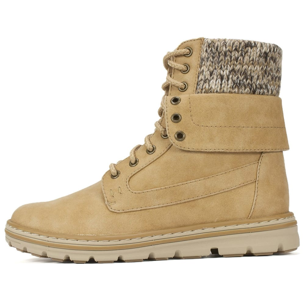 CLIFFS Women's Kendrick Lace-Up Boots, Wheat Sweater - WHEAT