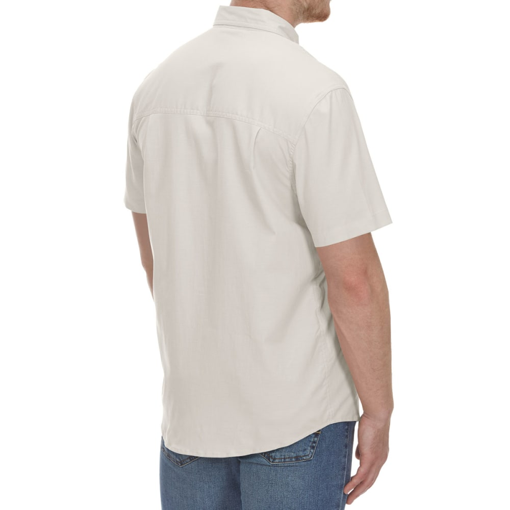 COLEMAN Men's Solid Guide Short-Sleeve Shirt - EGRET  BRCW