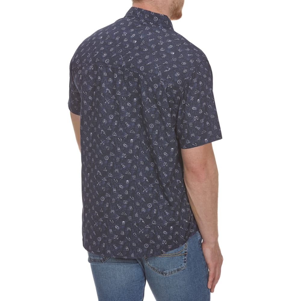 COLEMAN Men's Printed Guide Short-Sleeve Shirt - INDIGO BRC