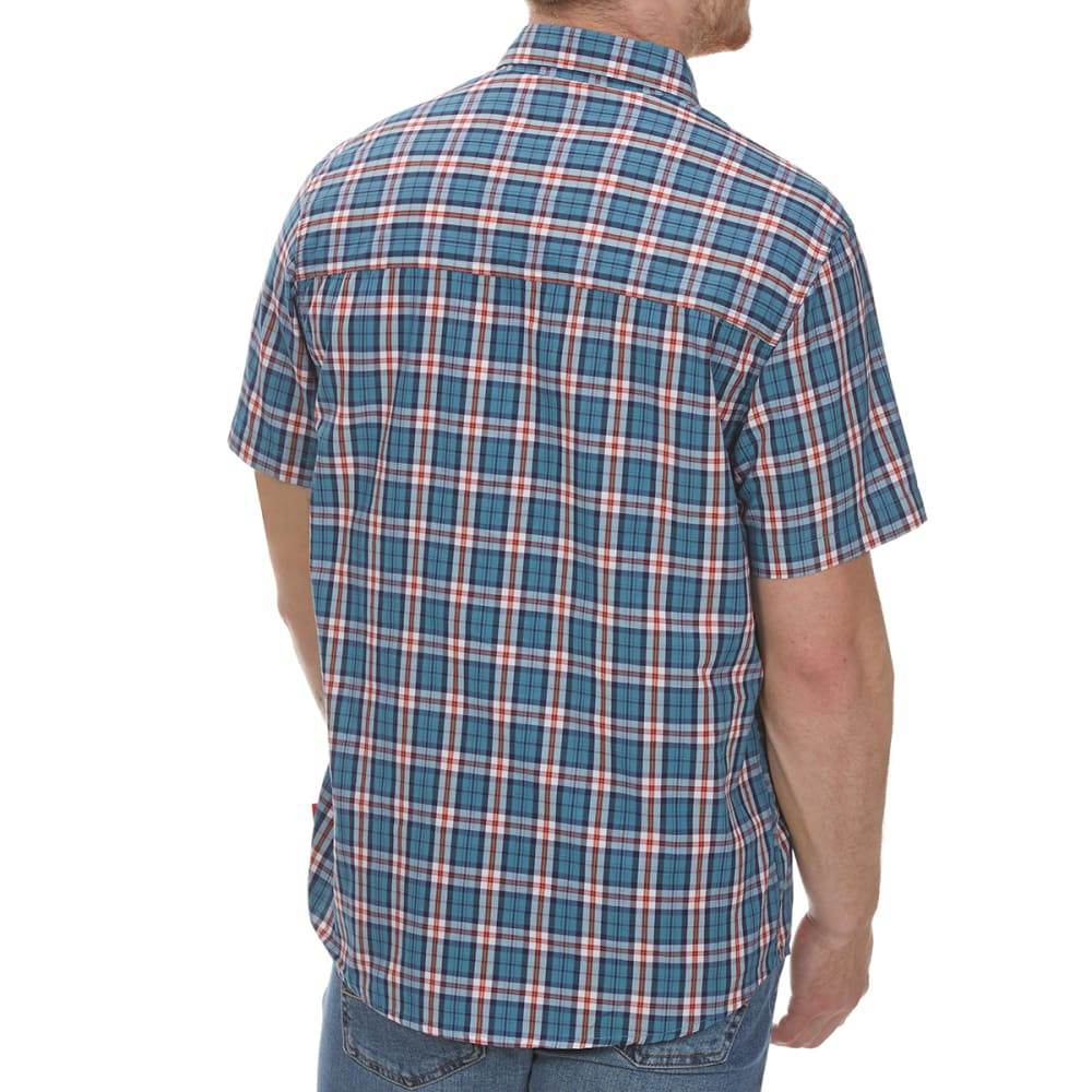 COLEMAN Men's Plaid Guide Short-Sleeve Shirt - TEAL BRC
