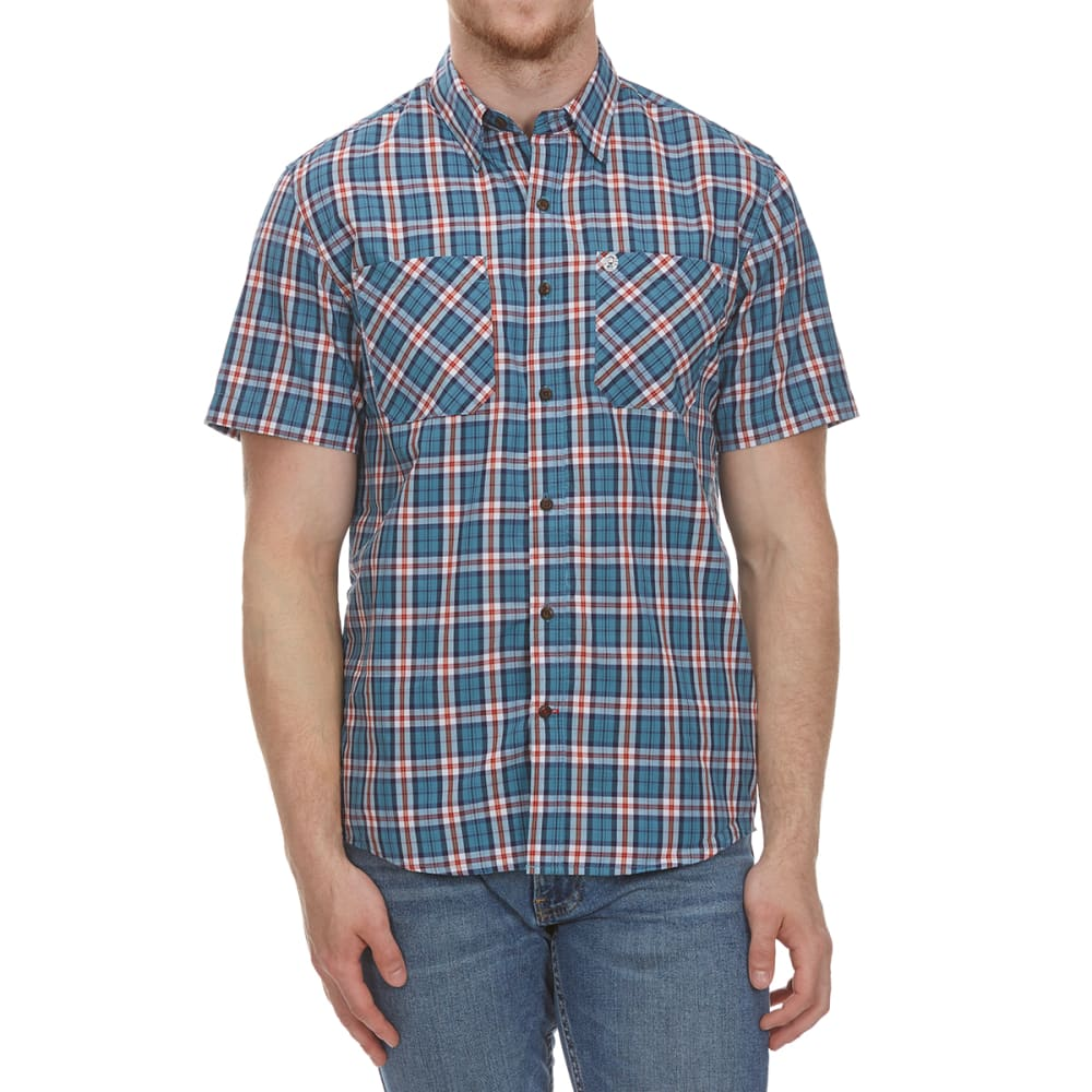 Coleman Men's Plaid Guide Short-Sleeve Shirt - Green, M
