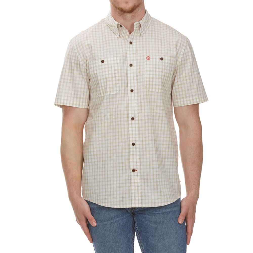 COLEMAN Men's Space-Dye Guide Short-Sleeve Shirt - STONE BRC