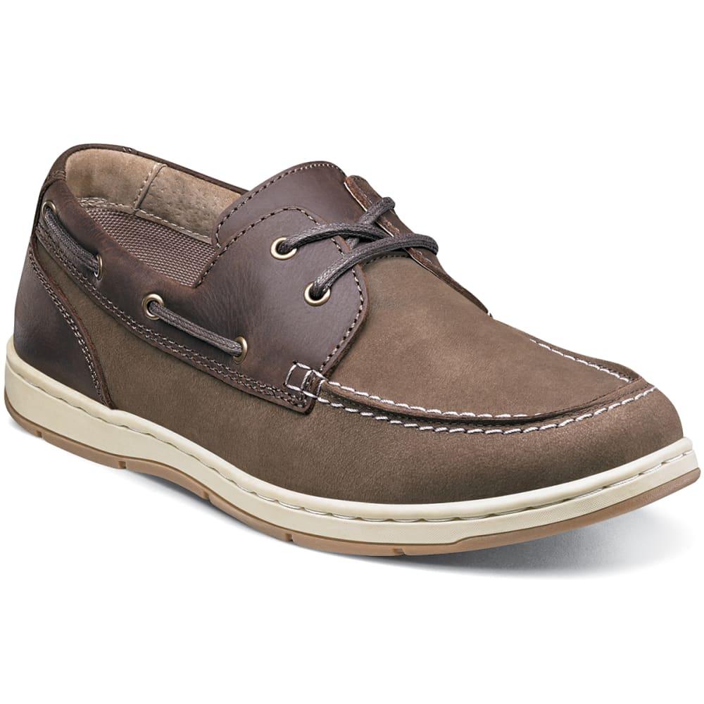 NUNN BUSH Men's Schooner Moc Toe Two-Eye Boat Shoes, Brown - BROWN