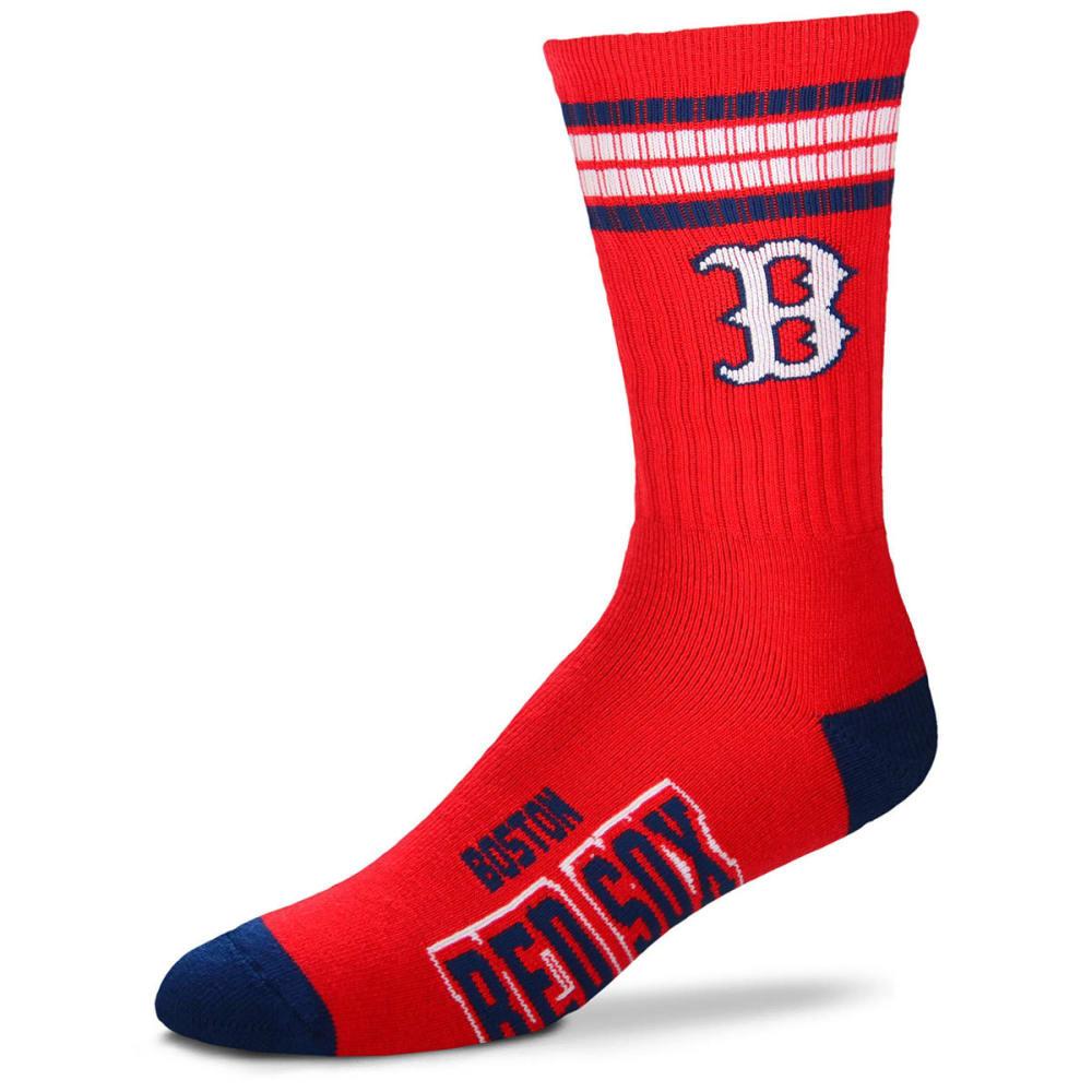 BOSTON RED SOX 4-Stripe Deuce Crew Socks - RED