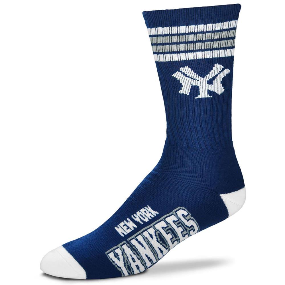 NEW YORK YANKEES Men's Four Stripe Deuce Socks - NAVY