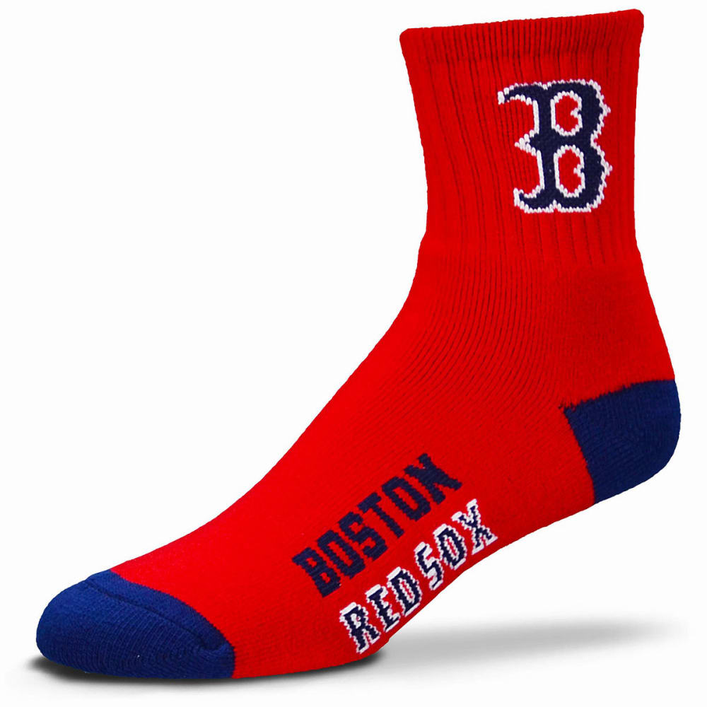 BOSTON RED SOX Team Color Crew Socks - RED
