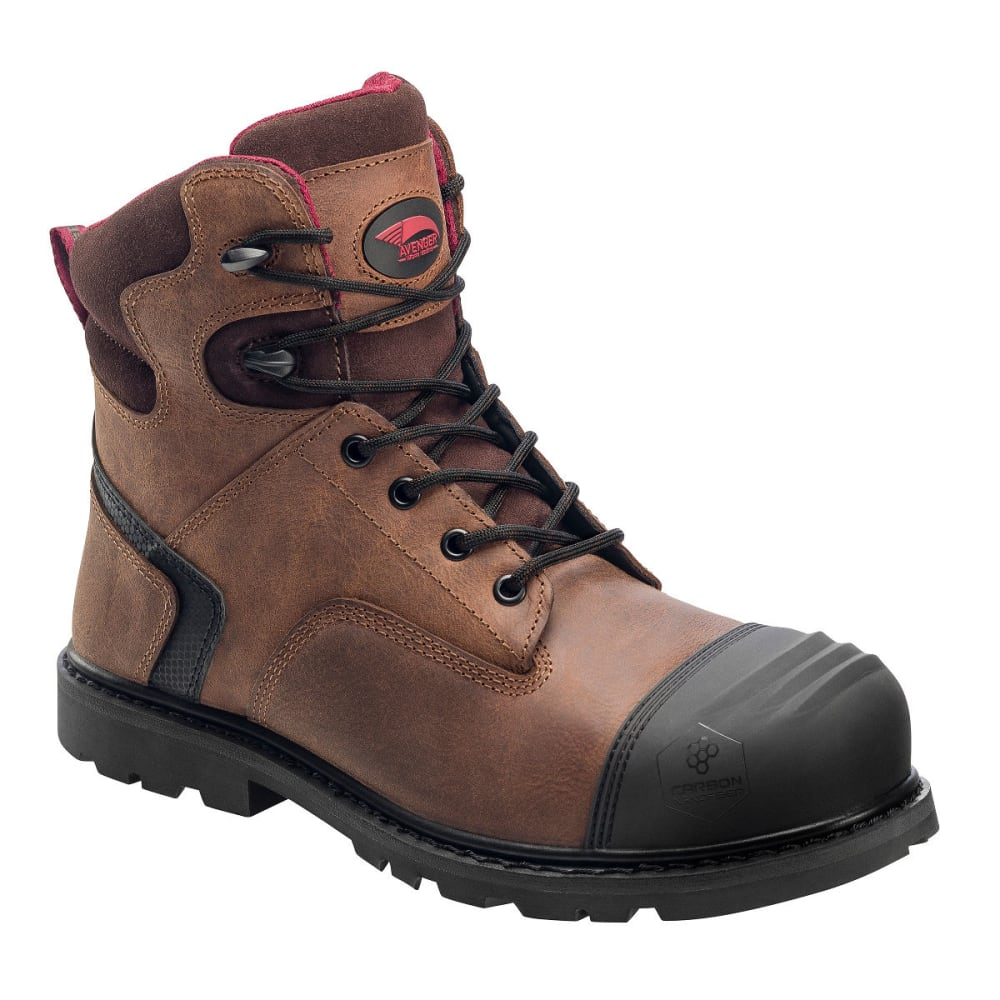AVENGER Men's 7542 Comp Toe Work Boots, Brown, Medium Width - BROWN