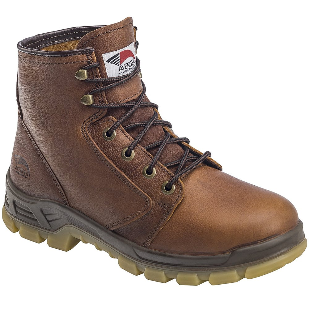 Avenger Men's 7575 8 In. Carbon Toe Waterproof Work Boots, Brown, Wide