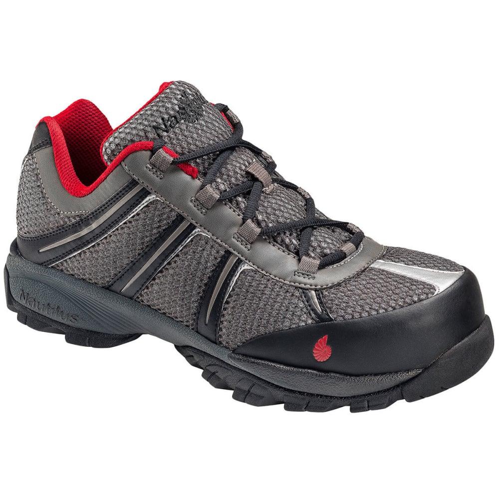 NAUTILUS Men's 1343 ESD Safety Toe Athletic Shoes, Grey, Medium Width - GREY