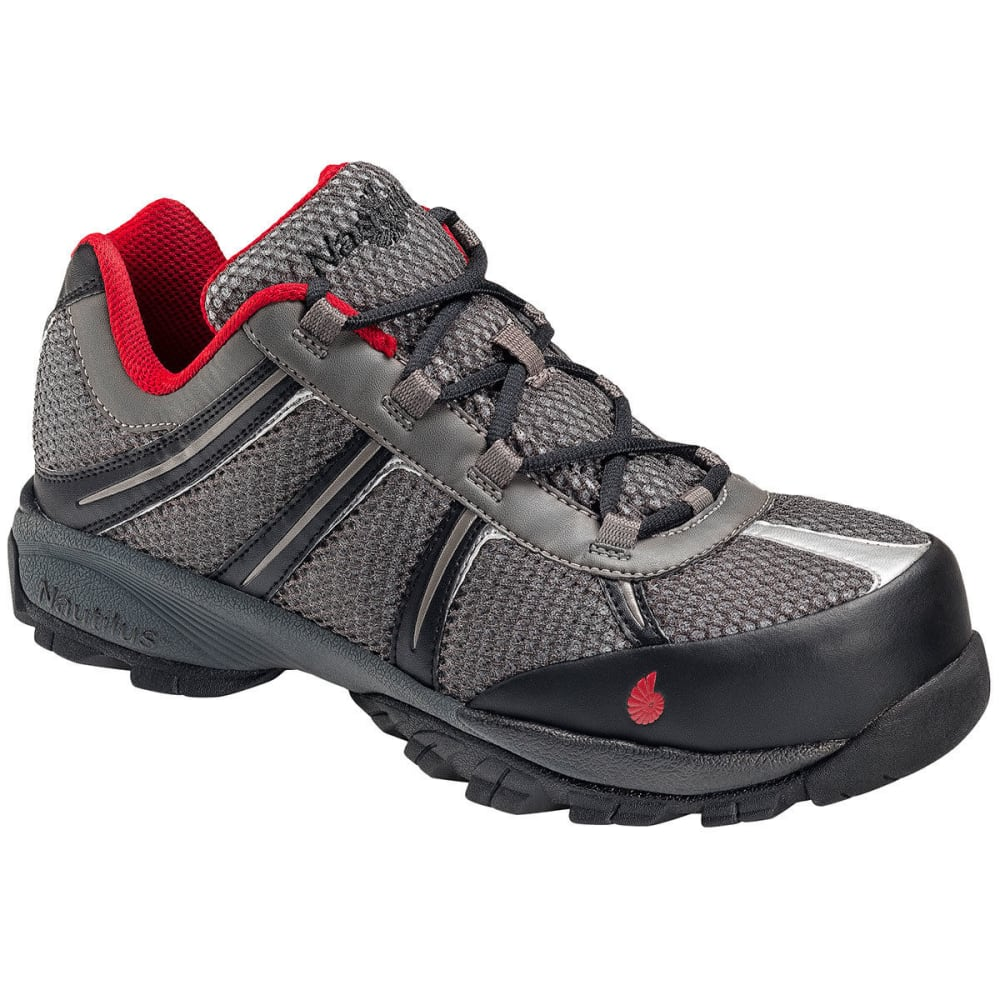 NAUTILUS Men's 1343 ESD Safety Toe Athletic Shoes, Grey, Wide - BROWN