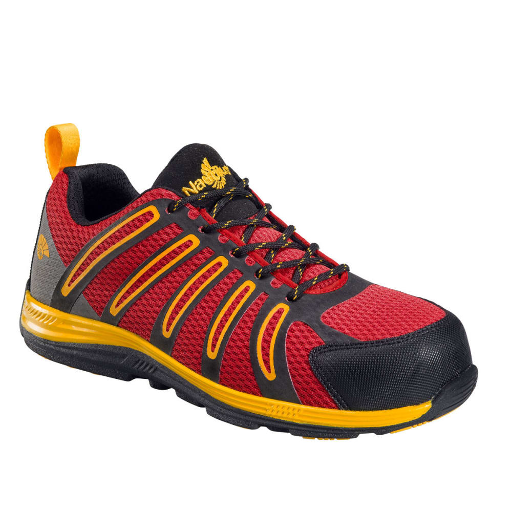 NAUTILUS Men's 1742 Comp Fiber Toe Safety Shoes, Red, Wide - RED