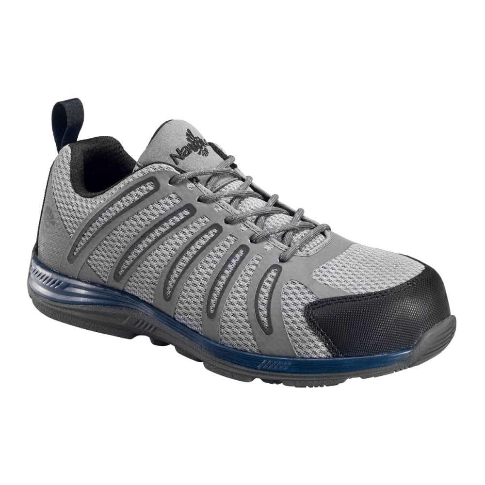 NAUTILUS Men's 1747 Comp Fiber Toe Safety Shoes, Grey, Wide - GREY