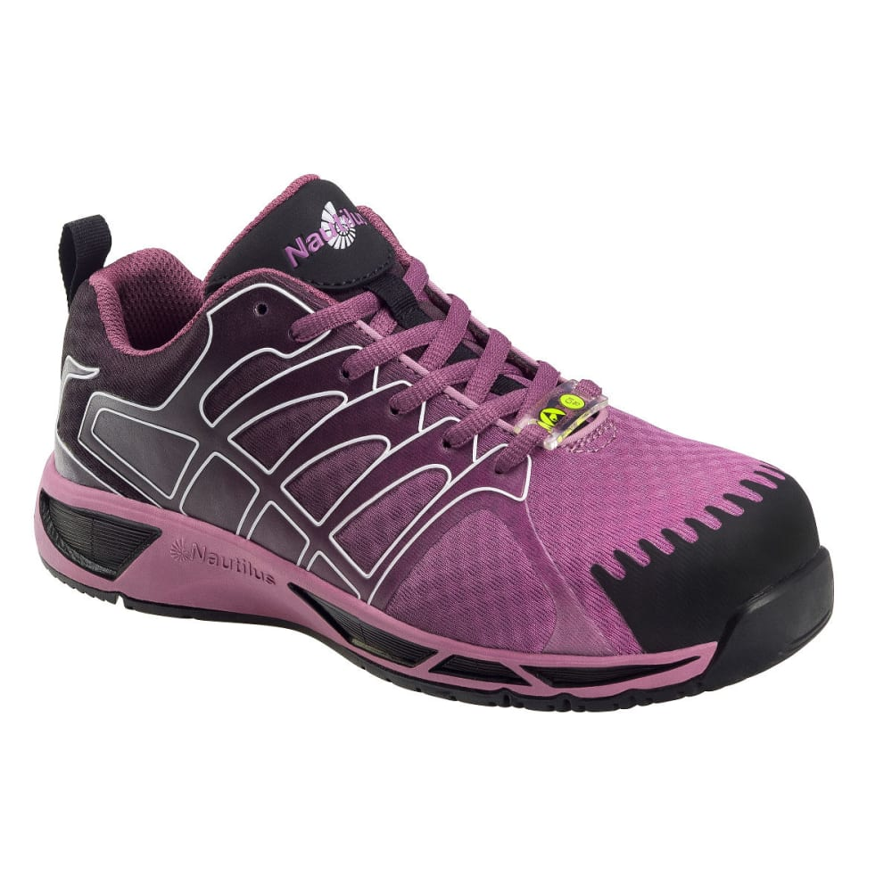 NAUTILUS Women's 2471 Comp Fiber Toe Athletic Shoes, Purple, Wide 6