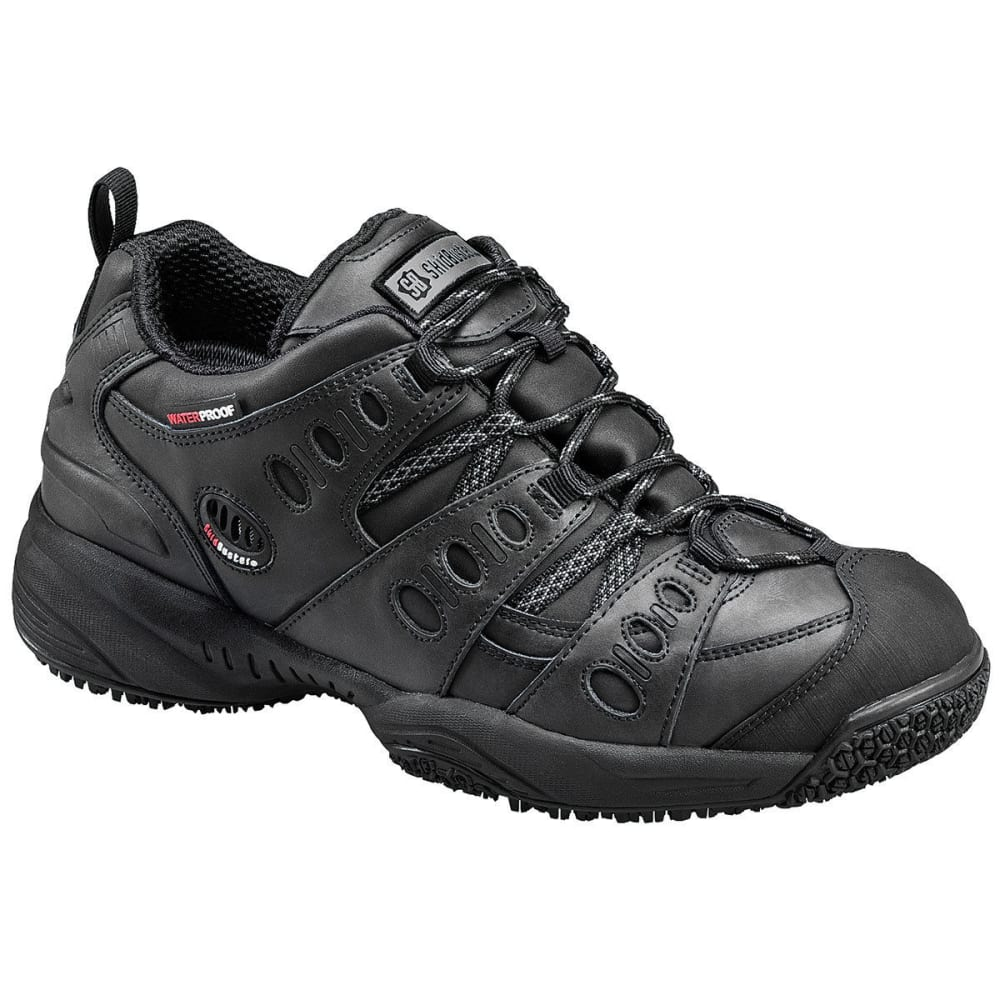 SKIDBUSTER Men's 5052 Waterproof Athletic Work Shoes, Black, Wide - BLACK