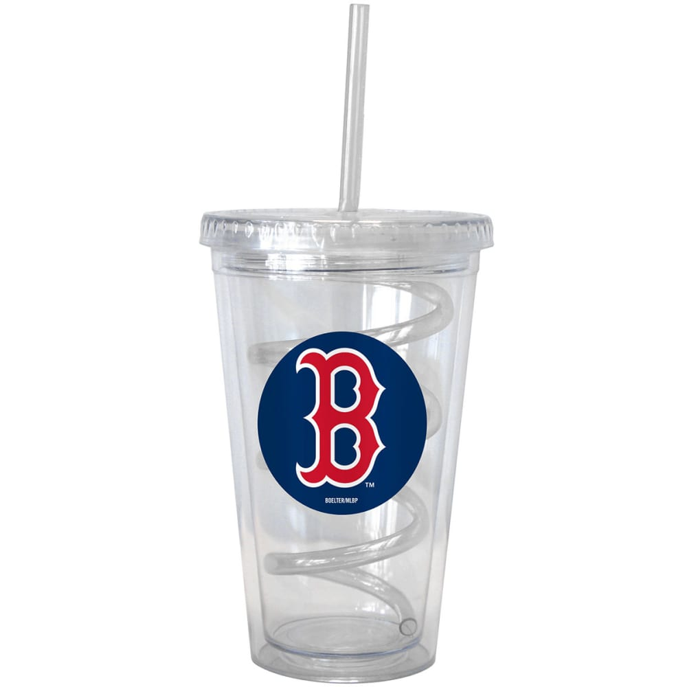 BOSTON RED SOX 16 oz. Tumbler with Swirl Straw - NO COLOR