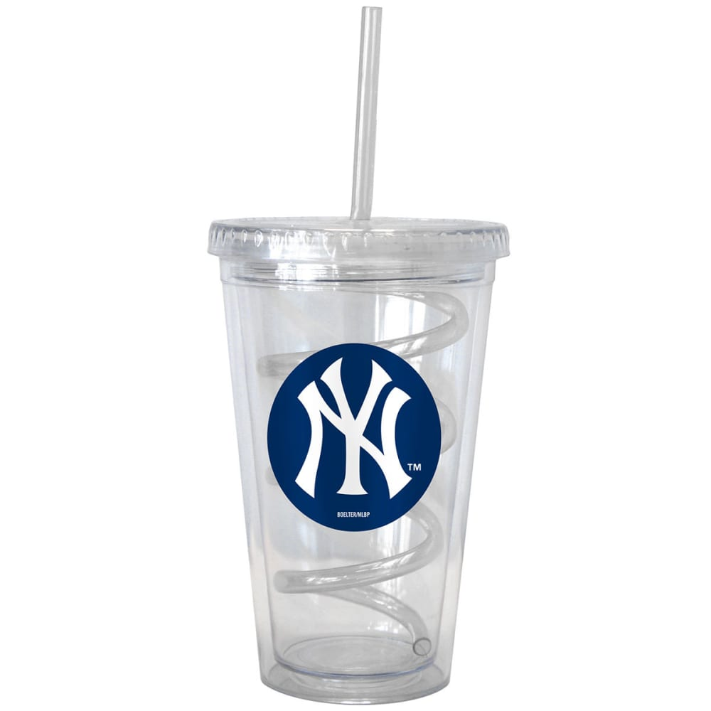 NEW YORK YANKEES 16 oz. Tumbler with Swirl Straw - NO COLOR