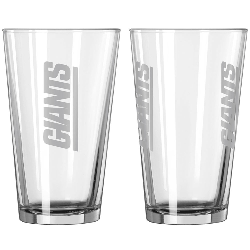 NEW YORK GIANTS Vertical Pint Glass - NO COLOR