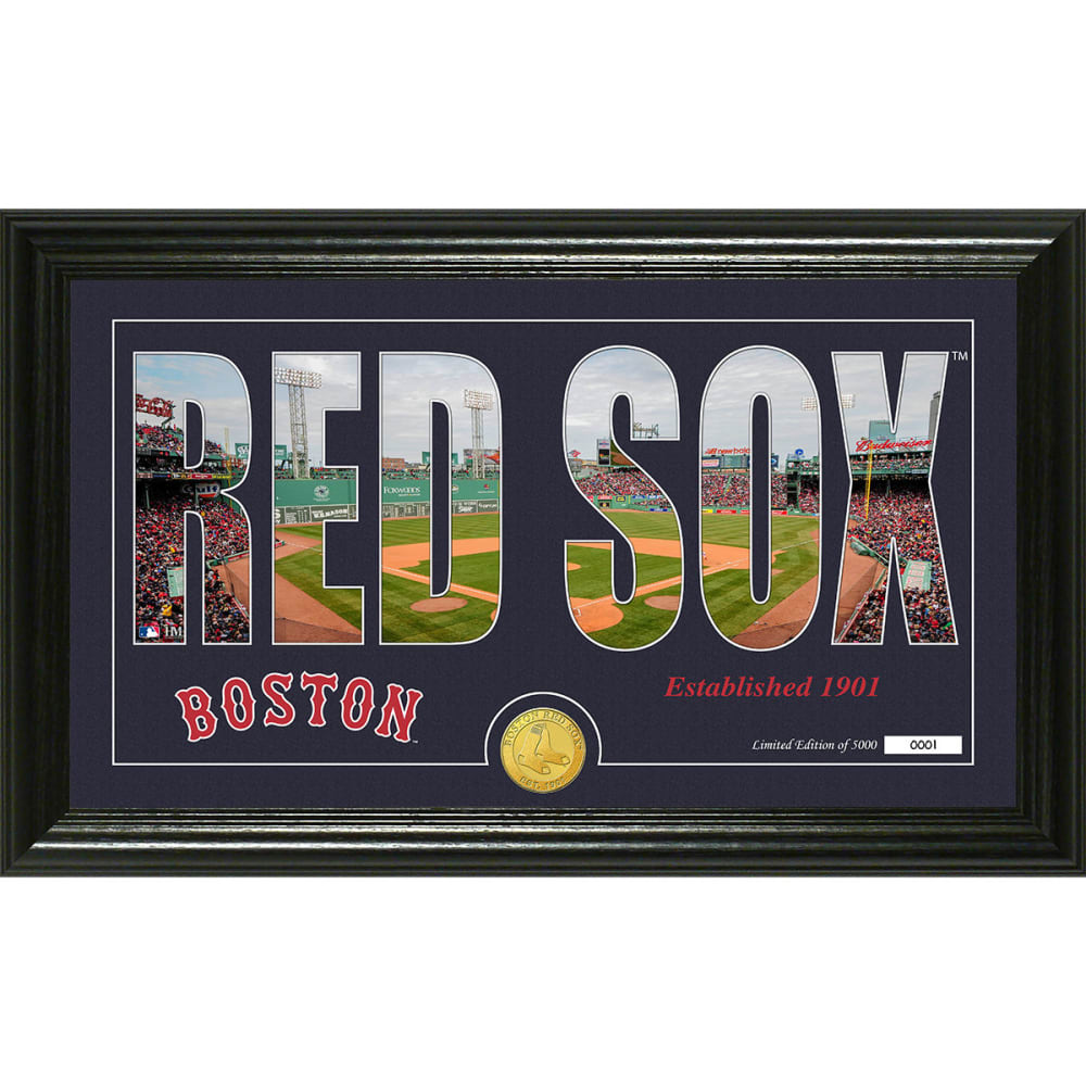 """BOSTON RED SOX """"Silhouette"""" Panoramic Bronze Coin Photo Mint - NO COLOR"""