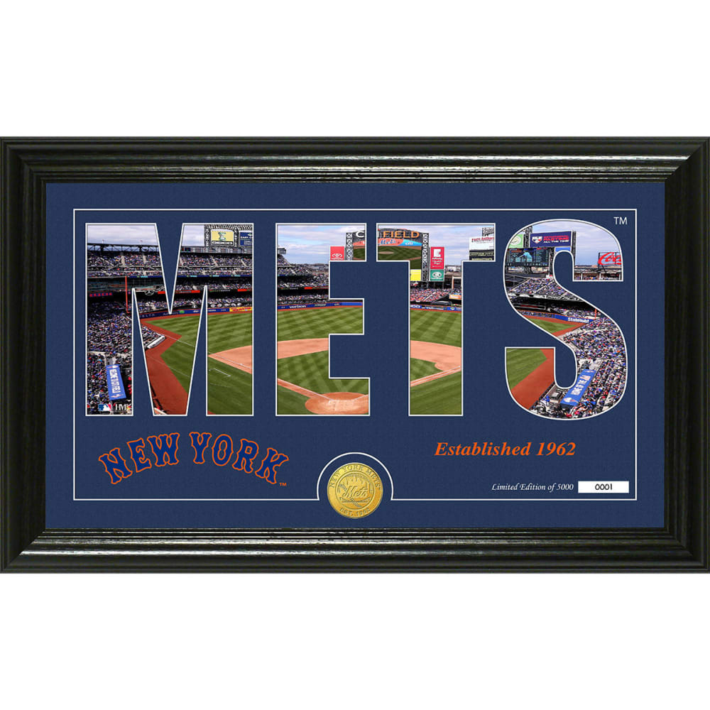 "NEW YORK METS ""Silhouette"" Panoramic Bronze Coin Photo Mint - NO COLOR"