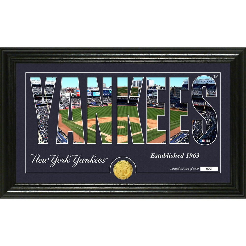 """NEW YORK YANKEES """"Silhouette"""" Panoramic Bronze Coin Photo Mint - NO COLOR"""