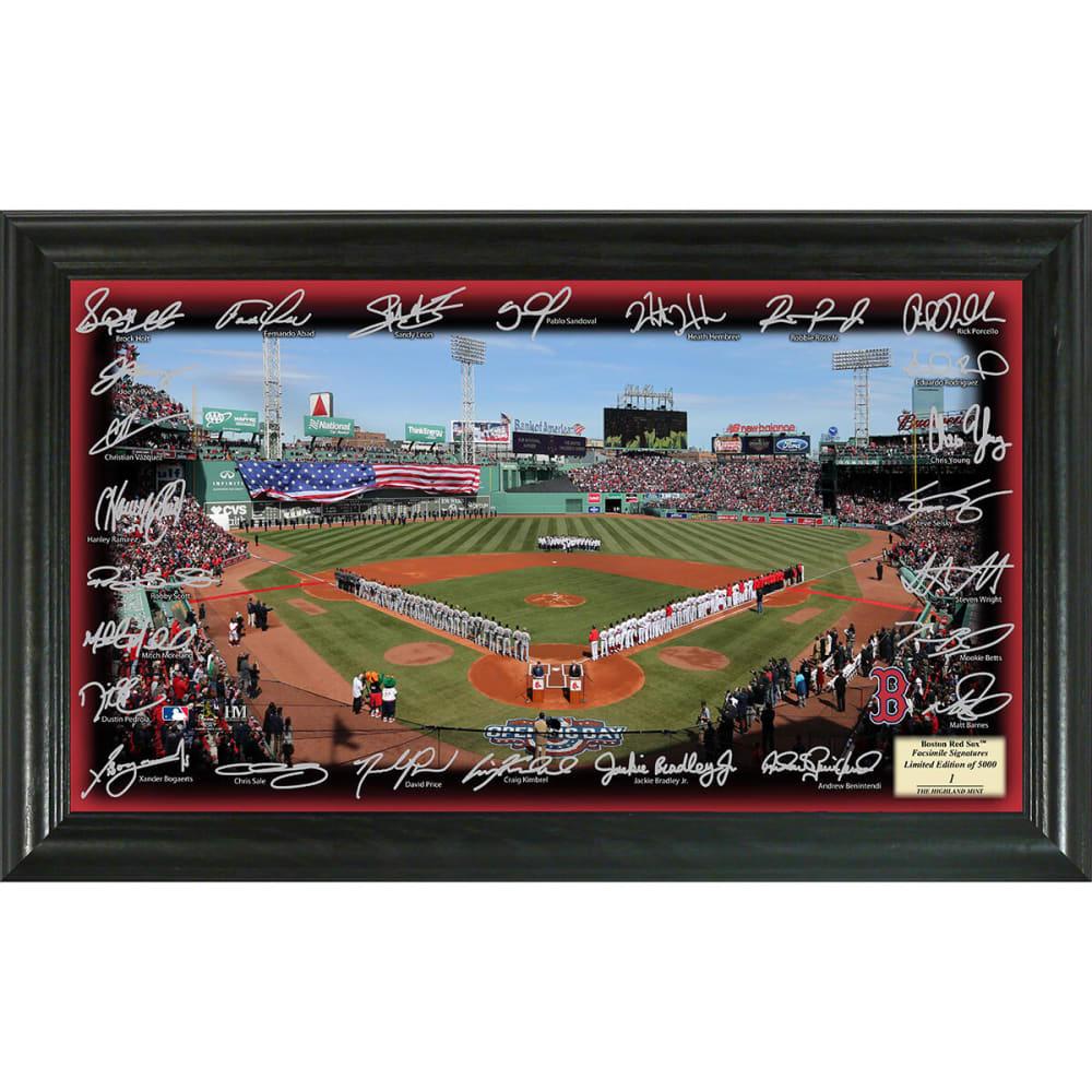 BOSTON RED SOX 2017 Signature Field Photo - NO COLOR