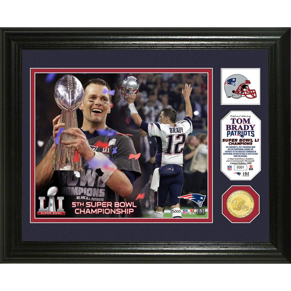 "NEW ENGLAND PATRIOTS Super Bowl 51 ""Player Trophy"" Single Coin Photo Mint - NO COLOR"