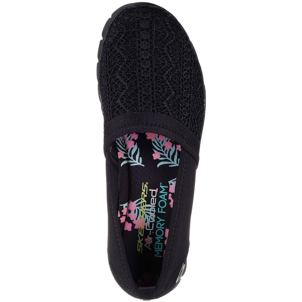 SKECHERS Women's EZ Flex 3.0 – Duchess Slip-On Casual Shoes, Black - BLACK