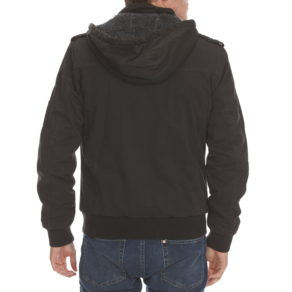 DISTORTION Guys' Twill Banded Bottom Jacket - SOOT