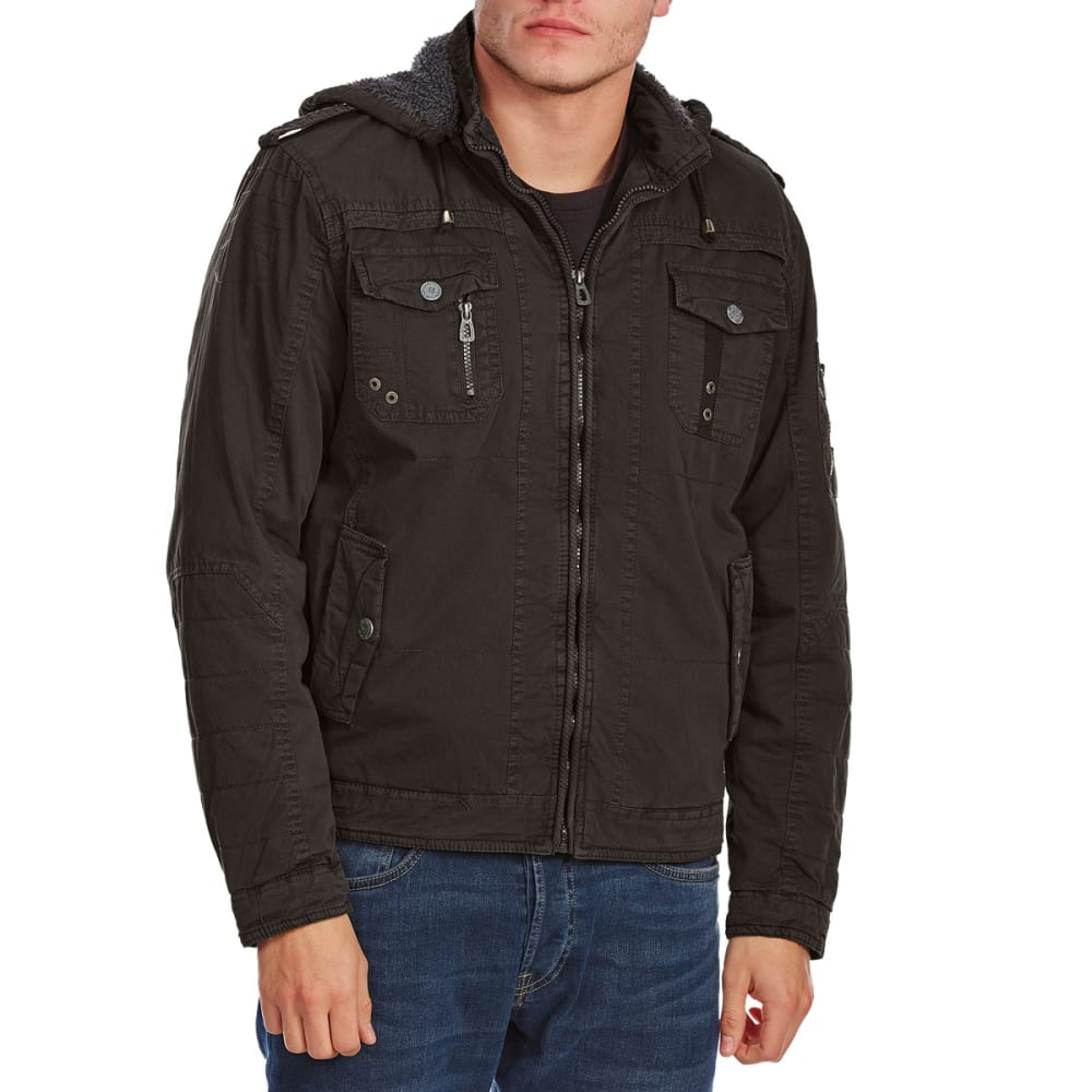 Distortion Guys Chest Patch Pocket Twill Jacket - Black, S
