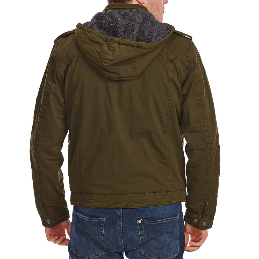 DISTORTION Guys' Chest Patch Pocket Twill Jacket - ARMY GREEN