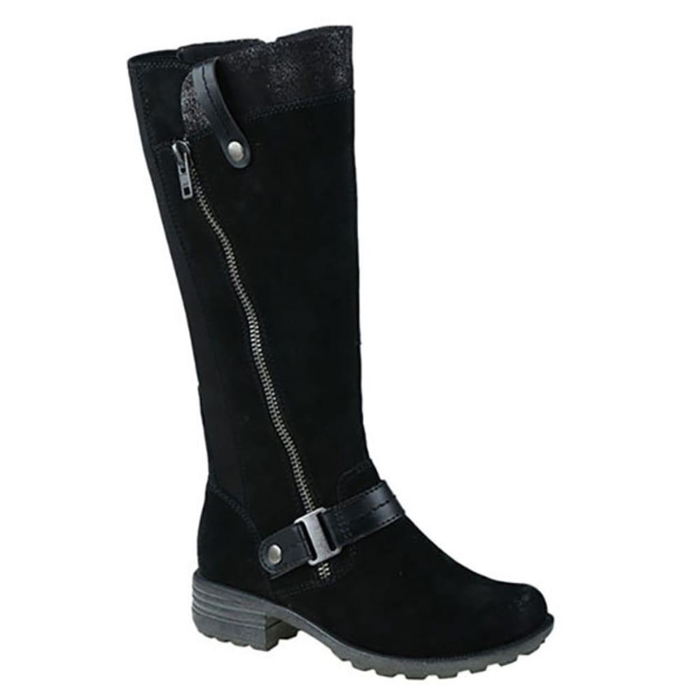 EARTH ORIGINS Women's Portia Wide Calf Tall Boots, Black - BLACK