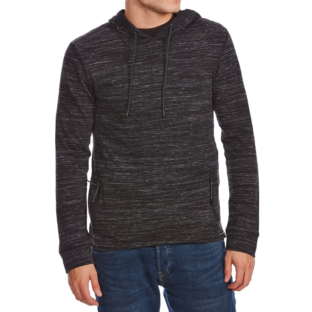 OCEAN CURRENT Guys' Dougies Zip Pocket Pullover Hoodie - BLACK