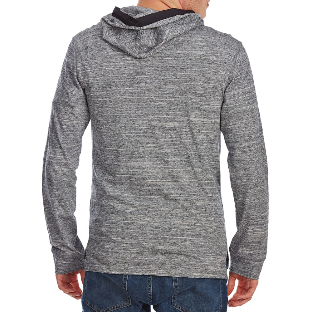 OCEAN CURRENT Guys' Kung Fu Zip Pocket Pullover Hoodie - MOUSE GRY