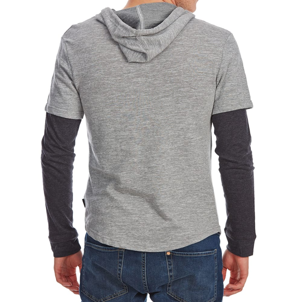 OCEAN CURRENT Guys' Yea 2-Fer Pullover Hoodie - MOUSE GRY