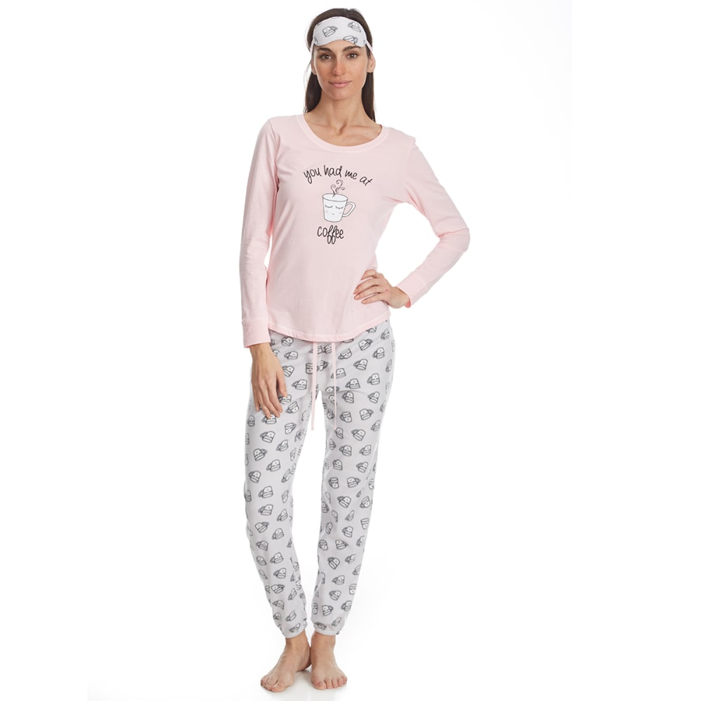 Carole Hochman Women's Jogger Sleep Set With Sleep Mask - Various Patterns, S