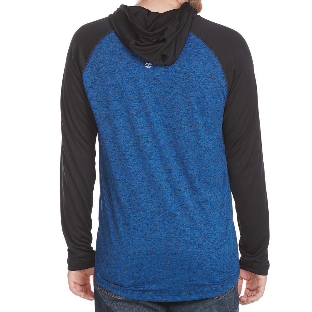 SPLIT Guys' Athletic Raglan Hoodie - HTR BLUE