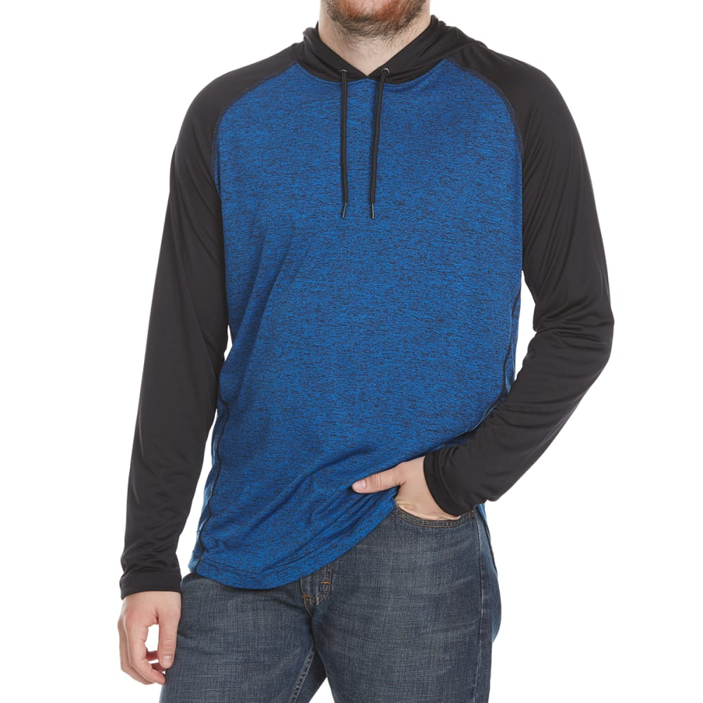 SPLIT Guys' Athletic Raglan Hoodie - HTR BLUE